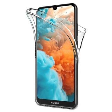 Microsonic Huawei Honor 8S Kılıf 6 tarafı tam full koruma 360 Clear Soft Şeffaf Renksiz